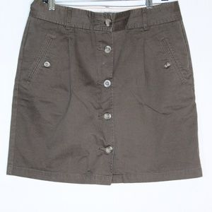 Dockers Size 10 Button Down Skirt